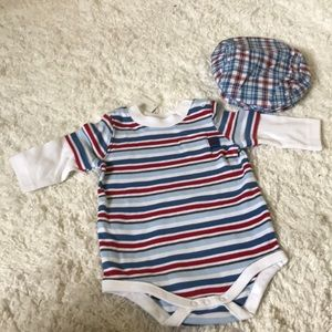 NWT Gymboree Top and Matching Hat 0-3 Mons